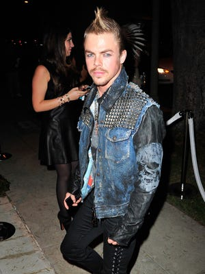 Derek Hough attends the Casamigos Halloween Party at the home of Mike Meldman on Oct. 25, 2013 in Beverly Hills.