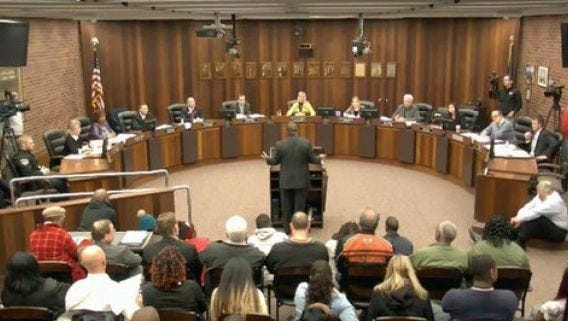 Evansville City Council meeting