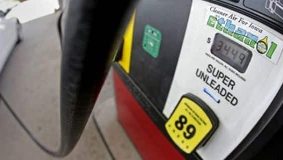 File photo of a gas pump