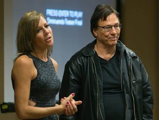 Richard Hatch and Gigi Edgley at Dragon Con on Sept.