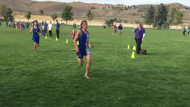 McQueen's Henry Weisberg won the boys High Desert cross country race on Friday. Regionals are Saturday at Rancho San Rafael