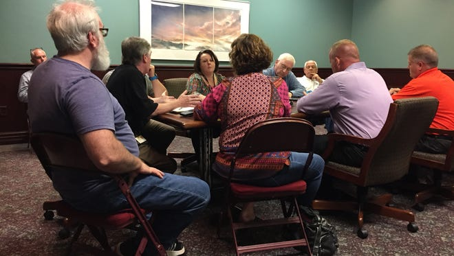Anderson County safety, transportation and recreation officials gathered Wednesday afternoon for a meeting to coordinate efforts for Monday's eclipse, expected to draw up to 245,000 people to the county.