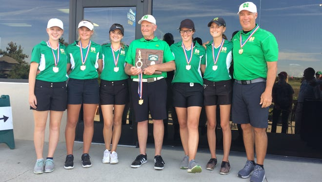 Newark Catholic's girls golf team won the Division II district title Monday at Darby Creek.