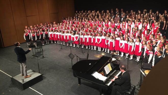 """The Pensacola Children's Chorus rehearses for """"One World, Many Voices."""""""