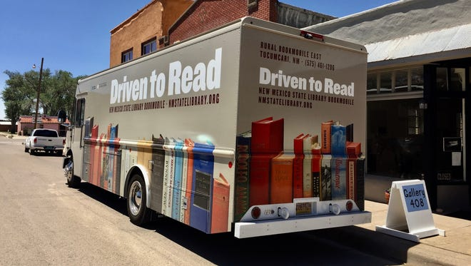 New Mexican historians, like Anaya, Horgan and Simmons are among authors whose works grace the new look of this bookmobile. On board are books and materials covering a wide variety of topics.
