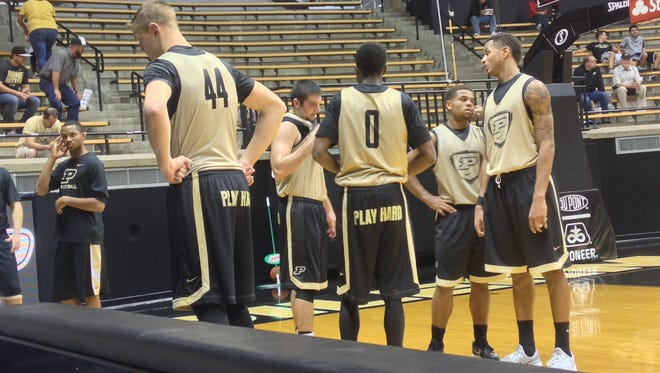 Boilermakers held an open scrimmage on Saturday at Mackey Arena.