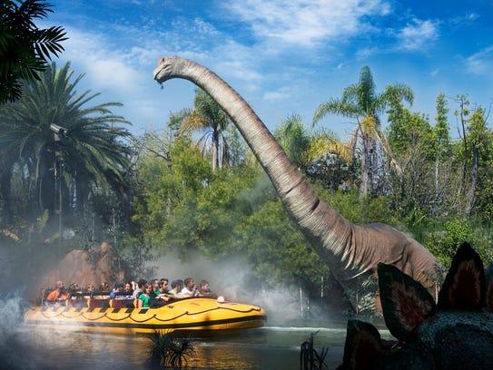 Jurassic Park - The Ride at Universal Studios Hollywood.