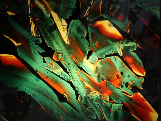 "A Vegetable or Mineral? #4, from ""Crystal Clues to the Sublime,"" a microphoto of a crystal by Alice Weston."