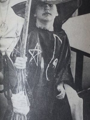 Tanya Lynn Vaughn, a 6 year old first grader at Uniontown Elementary, posed as she participated in the school's 1983 Halloween Costume Contest.