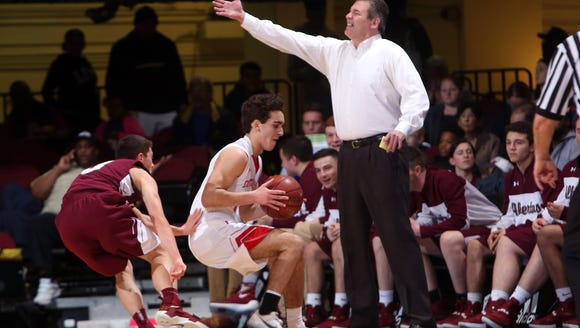 Tappan Zee defeated Alberts Magnus 69-67 in the boys basketball Section 1 Class A semifinal at the Westchester County Center in White Plains Mar. 1, 2017.