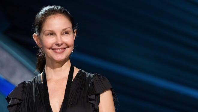 Ashley Judd appears during rehearsals for the 90th Academy Awards in Los Angeles. The Academy Awards will be held at the Dolby Theatre on March 4.