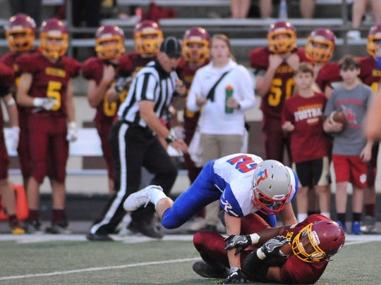 Class 5A No. 1 Roncalli defeated Class 2A No. 3 Scecina, 38-7, at Tech on Friday.