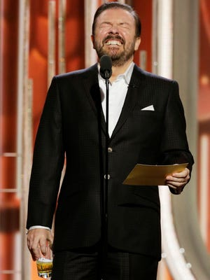 Ricky Gervais earned mixed reviews for his return as host at the 2016 Golden Globe Awards on Sunday night.