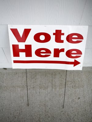 From 2010: A sign is posted at a Kentucky polling station.
