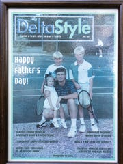 Dr. Ledbetter and his children on the cover of DeltaStyle 20 years ago!