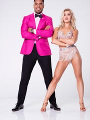 """DANCING WITH THE STARS - RASHAD JENNINGS WITH EMMA SLATER - The first 11 celebrity cast of """"Dancing with the Stars"""" are donning their glitzy wardrobe and slipping on their dancing shoes as they ready themselves for their first dance on the ballroom floor, as the season kicks off on MONDAY, MARCH 20 (8:00-10:01 p.m. EST), on the ABC Television Network. (ABC/Craig Sjodin)"""