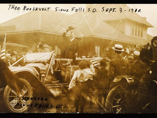 Theodore Roosevelt in Sioux Falls, Sept 3, 1910.