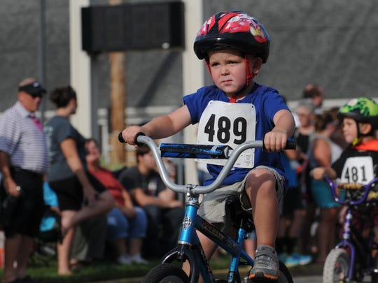 The bike races were held as part of the Lancaster Festival July 25, 2014, on Wheeling Street in Lancaster.
