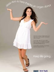 Jesi-Ann Bettcher appeared in ads to advocate for organ donor registration.
