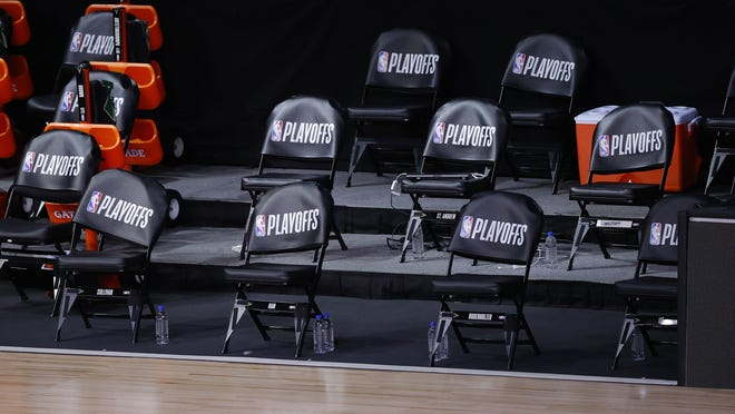 An empty Milwaukee Bucks bench before Wednesday's NBA playoff game spoke volumes on the issue of social injustice.