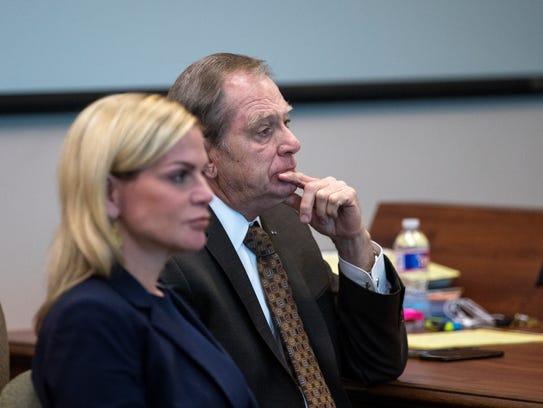 Defense attorney Lisa Greenberg and defendant Judge