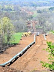 The Rover Pipeline construction near Robinson Road.