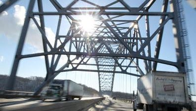 Work on the steel arch-shaped truss Carroll Cropper Bridge, which spans the Ohio River between Boone County and Indiana, is scheduled to be completed Tuesday, according to a Facebook post from the Kentucky Transportation Cabinet.