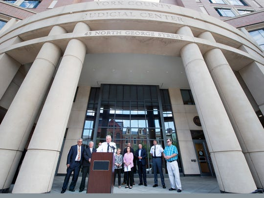 The announcement for Operation Safe Surrender was made at the York County Judicial Center in York by the York County Sheriffs Department and supporting groups.