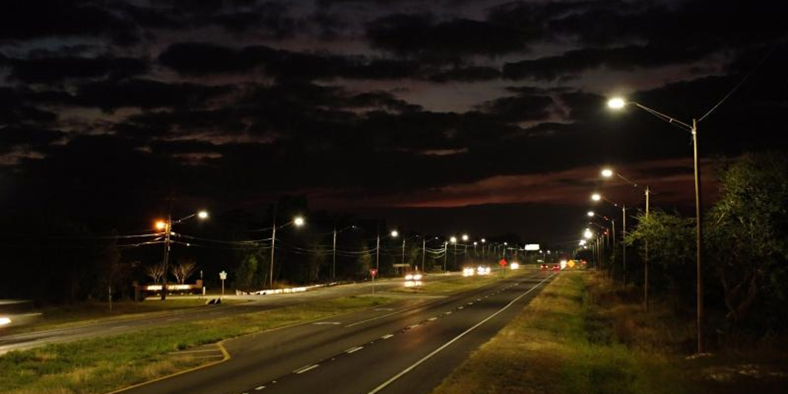 19 mile stretch of us 98 in santa rosa gets led street lighting arubaitofo Choice Image