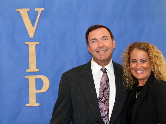 Joseph and Leslie Hohmann pose at the Bonita Springs Area Chamber of Commerce VIP Reception held for its top tier members, its investors and its partners.