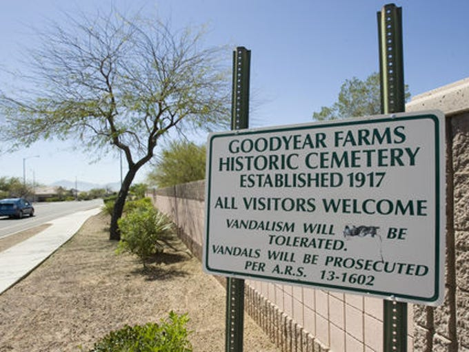Pioneer Cemetery, also called Goodyear Farms Historic
