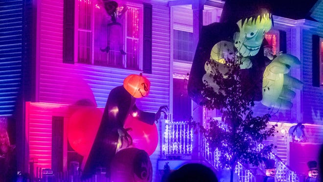 Jordan Paiva's house is fully decorated for the Halloween Season.