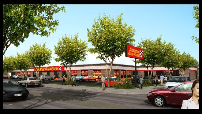 An artist rendering of the Advance Auto Parts at 120 E. Sandford Ave. in Mount Vernon.