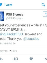 The FSU Sigmas were the first to join the Black Student