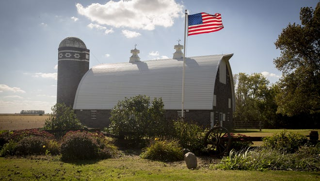 The Bennett barn, located near Latimer in Franklin County, Iowa, Sunday, Sept. 27, 2015.