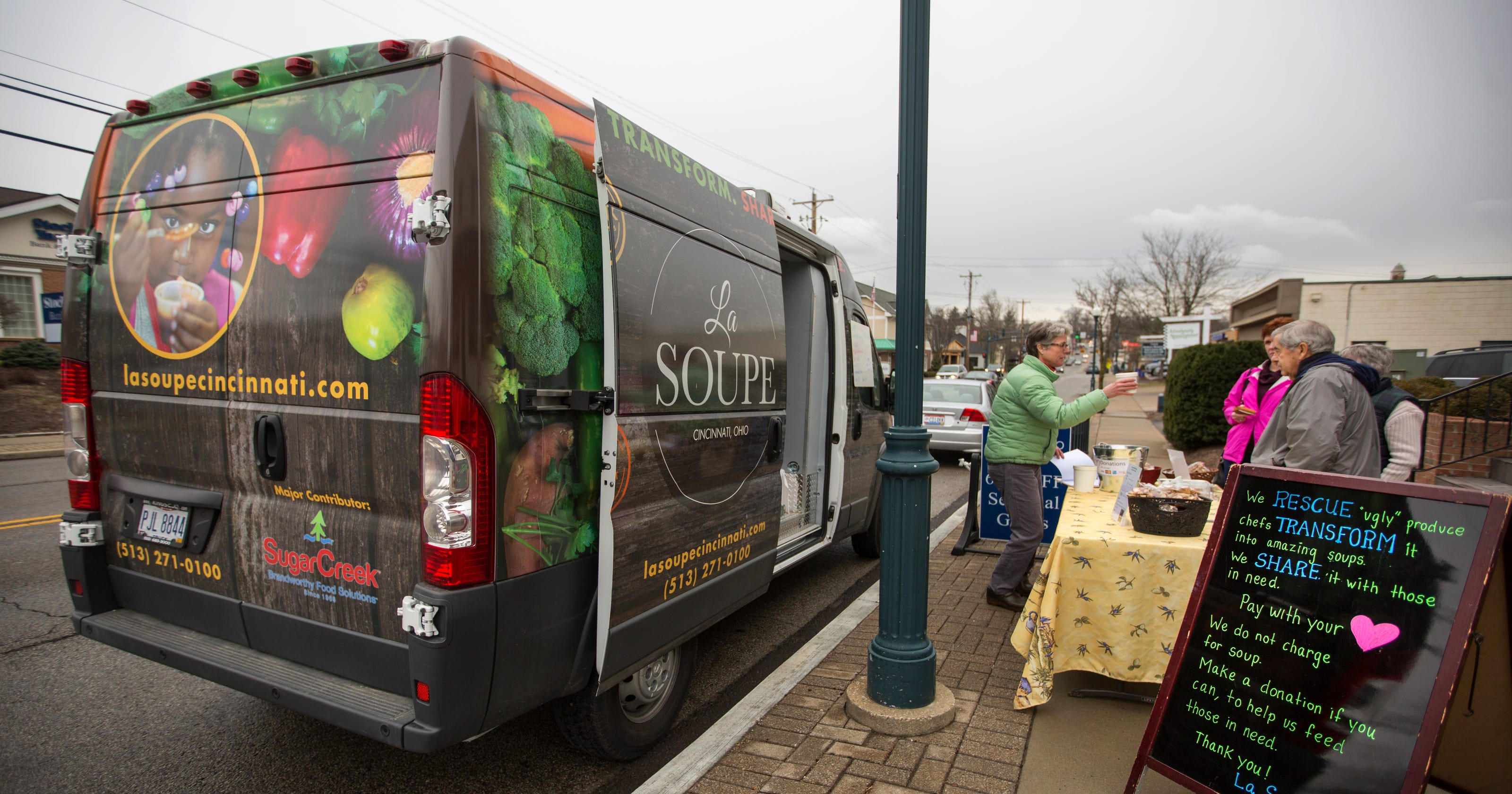 La Soupe Taking Rescued Food To The Street