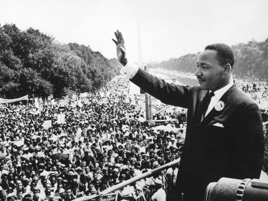 Dr. Martin Luther King gives famous 'I Have A Dream'