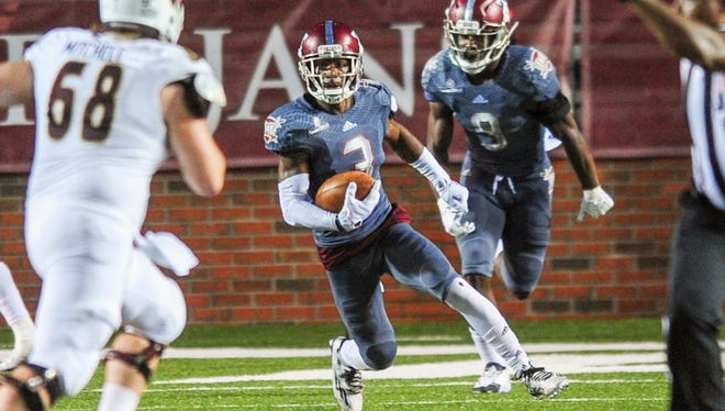Troy cornerback LaMarcus Farmer returned an interception 55 yards for a touchdown against Louisiana-Monroe.