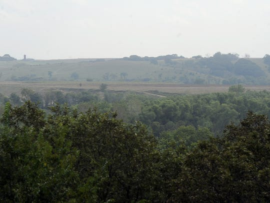 A view of the Iowa portion of the Blood Run site.
