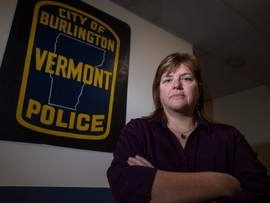 Jackie Corbally, seen on Monday, November 14, 2016, is Burlington's new opioid policy coordinator.  Her office is in the Burlington Police Department.