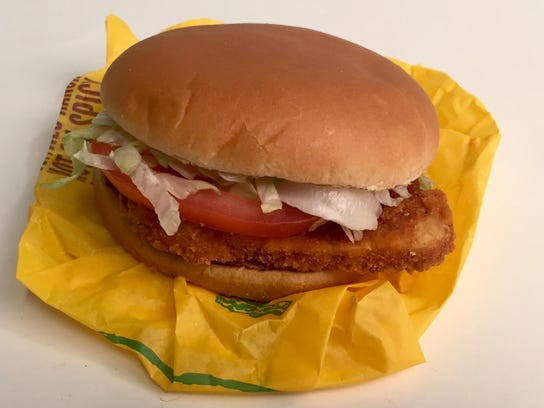 McDonald's Spicy McChicken with Tomato