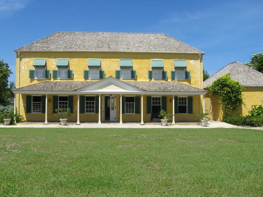 Barbados GW House outside blue sky credit Melanie Reffes