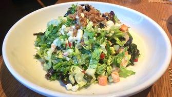 Oak Steakhouse chopped shrimp salad.