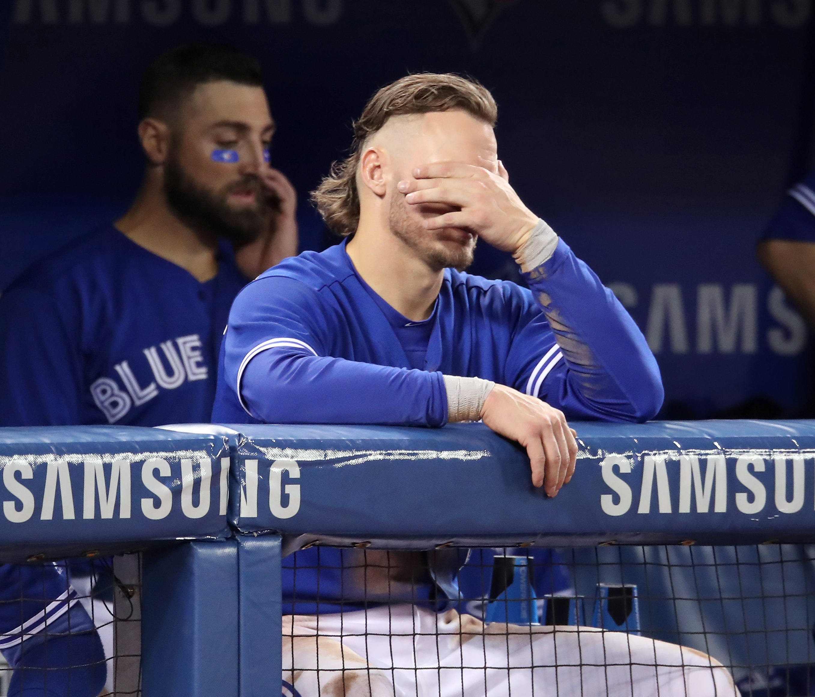 Josh Donaldson of the Blue Jays has been hampered by a shoulder injury and is batting just .234.