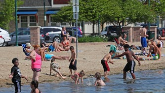 During the weekend's heat spell, you might consider hitting a beach to stay cool.