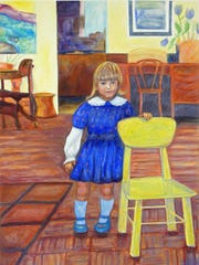 """Yellow Chair,"" Deeling Gregory's 38 by 50 inch framed"
