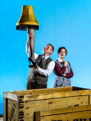 """Jack E. Chambers and Megan Murphy Chambers perform in Nashville Rep's 2016 performance of """"A Christmas Story."""" The piece returns during the holidays for its ninth consecutive year."""