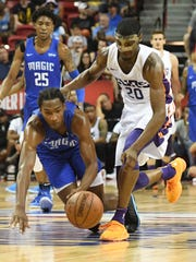 Melvin Frazier Jr. #35 of the Orlando Magic loses the