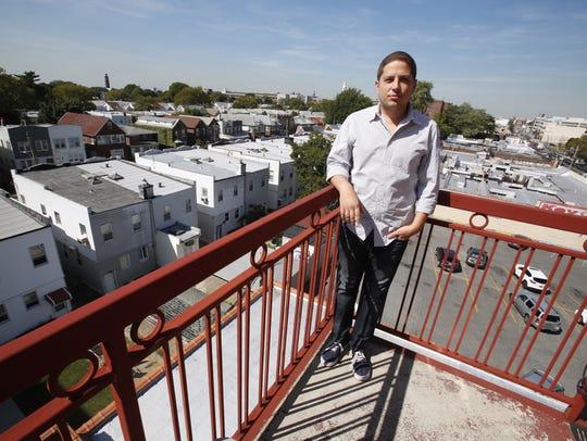 Jay Eisenberger at his home in Brooklyn.  Eisenberger
