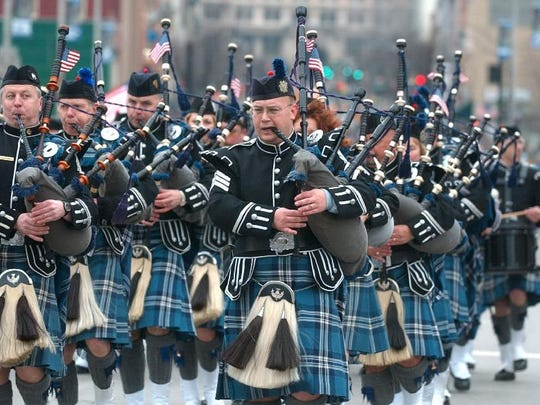 -  - The Broome County Celtic Pipes & Drums during the St. Patrick's Day parade in Binghamton on Saturday.